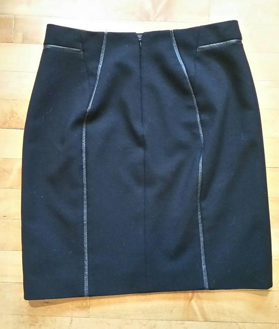 Elie Tahari Leather Piping Pencil Exclusive Nordstrom Skirt Black Image 1