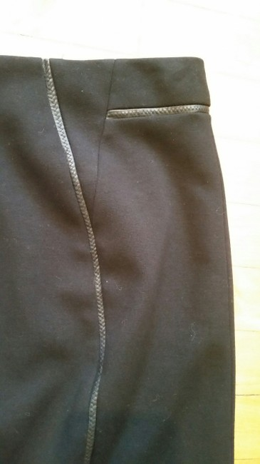 Elie Tahari Leather Piping Pencil Exclusive Nordstrom Skirt Black Image 2