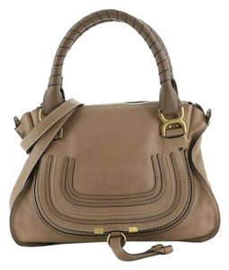 Chloé Marcie Leather Satchel in brown