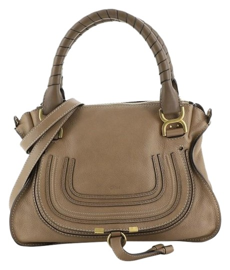 Chloé Marcie Leather Satchel in brown Image 0