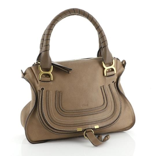 Chloé Marcie Leather Satchel in brown Image 1