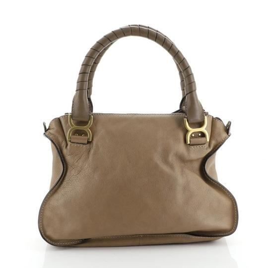 Chloé Marcie Leather Satchel in brown Image 2