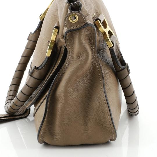 Chloé Marcie Leather Satchel in brown Image 5