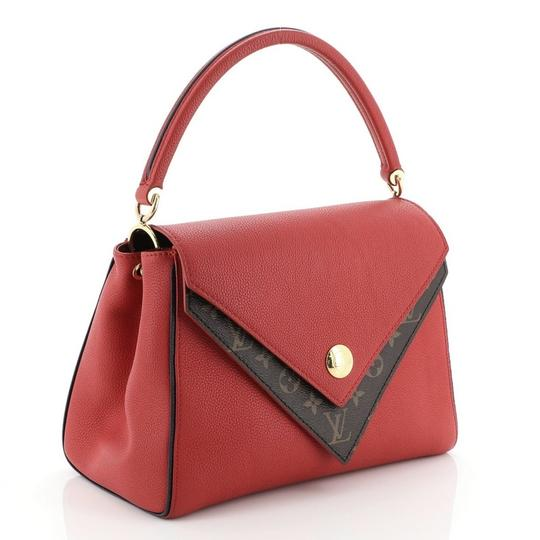 Louis Vuitton Double V Leather Tote in red Image 1