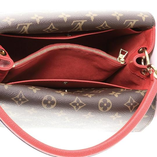 Louis Vuitton Double V Leather Tote in red Image 4