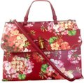 Gucci Bamboo Blooms Print Leather Top Handle Tote in Red Image 0