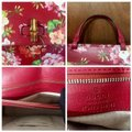 Gucci Bamboo Blooms Print Leather Top Handle Tote in Red Image 11