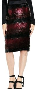 Vince Camuto Sequin [encil Burgundy Skirt Red and Black
