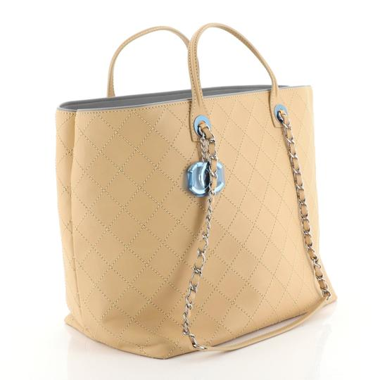Chanel Sopping Leather Tote in Neutral Image 1