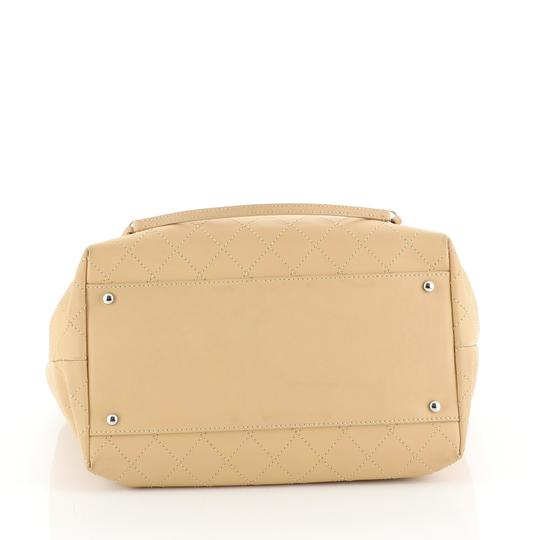 Chanel Sopping Leather Tote in Neutral Image 3