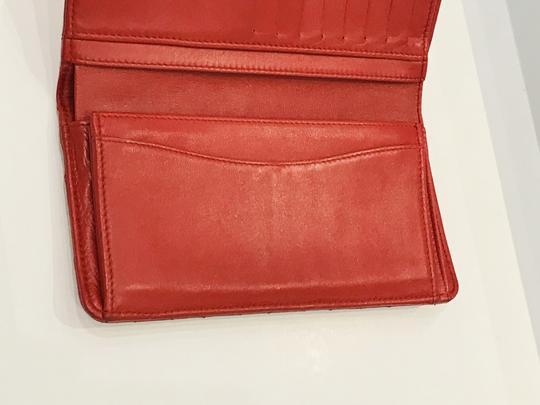 Chanel Lamb leather Quilted Yen Wallet Red Image 3
