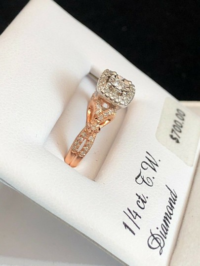love forever diamond rose gold ring Love Forever 14k Rose Gold Over Silver 1/4 Ct T.W. Diamond Ring Size 7 Image 1
