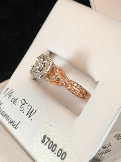 love forever diamond rose gold ring Love Forever 14k Rose Gold Over Silver 1/4 Ct T.W. Diamond Ring Size 7 Image 2