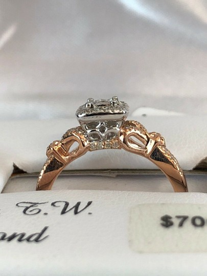 love forever diamond rose gold ring Love Forever 14k Rose Gold Over Silver 1/4 Ct T.W. Diamond Ring Size 7 Image 3