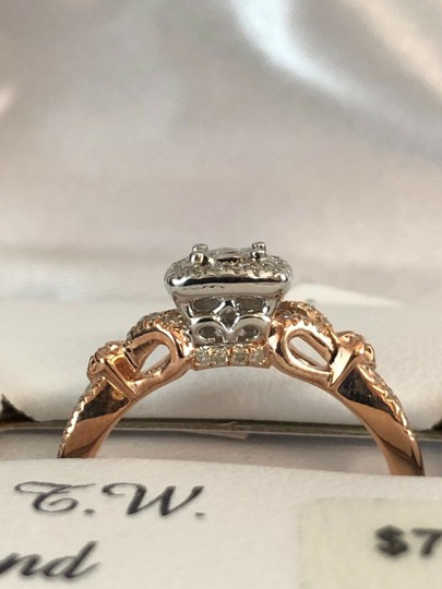 love forever diamond rose gold ring Love Forever 14k Rose Gold Over Silver 1/4 Ct T.W. Diamond Ring Size 7 Image 5
