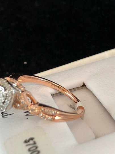 love forever diamond rose gold ring Love Forever 14k Rose Gold Over Silver 1/4 Ct T.W. Diamond Ring Size 7 Image 6