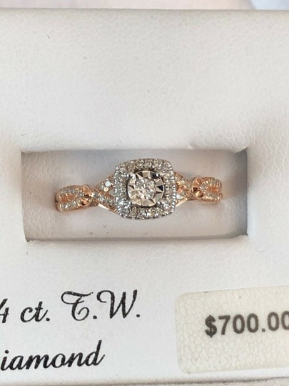love forever diamond rose gold ring Love Forever 14k Rose Gold Over Silver 1/4 Ct T.W. Diamond Ring Size 7 Image 9