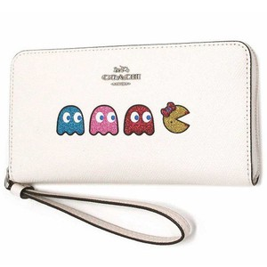 Coach COACH Large Phone Wallet With Ms.Pac-Man Animation