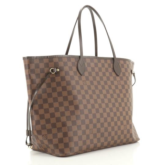 Louis Vuitton Neverfull Canvas Tote in Brown Image 1