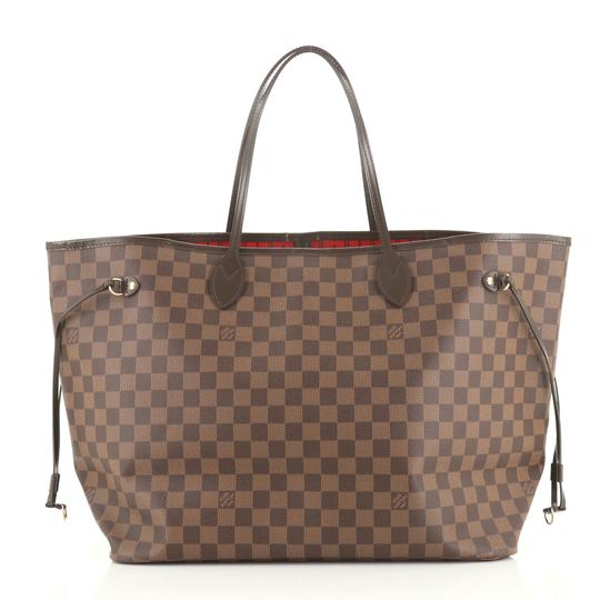 Louis Vuitton Neverfull Canvas Tote in Brown Image 2