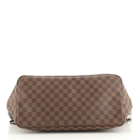 Louis Vuitton Neverfull Canvas Tote in Brown Image 3