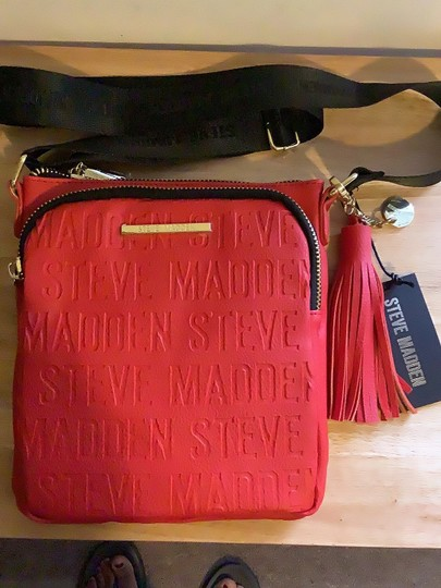 Steve Madden Red Messenger Bag Image 1