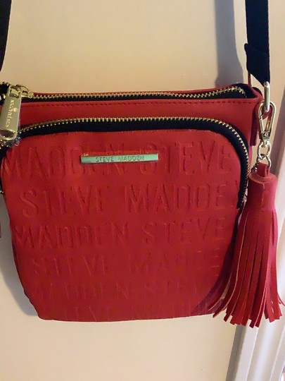 Steve Madden Red Messenger Bag Image 3