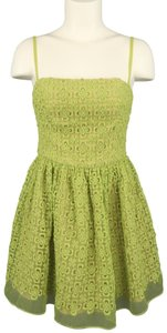 RED Valentino Lace Embroidered Fit Flair Bustier Dress