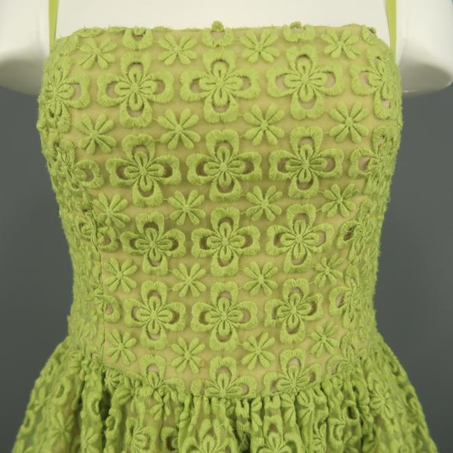 RED Valentino Lace Embroidered Fit Flair Bustier Dress Image 1