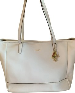 Coach City Extra Large Saffiano Leather Tote in Off White