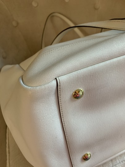 Coach City Extra Large Saffiano Leather Tote in Off White Image 5