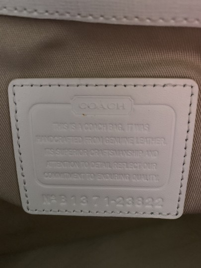 Coach City Extra Large Saffiano Leather Tote in Off White Image 6