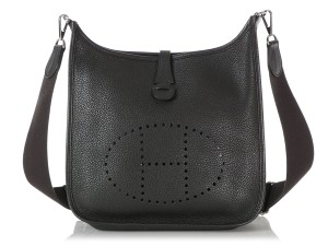 Hermès Hr.q1105.04 Perforated Palladium Cross Body Bag