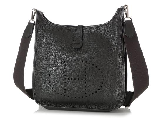 Hermès Hr.q1105.04 Perforated Palladium Cross Body Bag Image 1