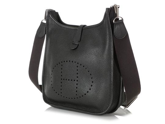 Hermès Hr.q1105.04 Perforated Palladium Cross Body Bag Image 2