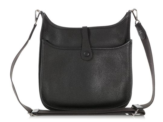 Hermès Hr.q1105.04 Perforated Palladium Cross Body Bag Image 3
