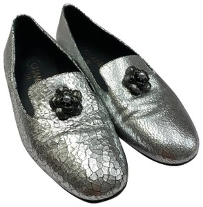 Chanel Loafer Camellia SILVER Pumps