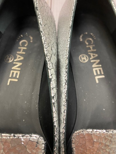 Chanel Loafer Camellia SILVER Pumps Image 2