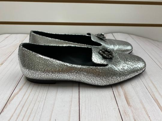 Chanel Loafer Camellia SILVER Pumps Image 5