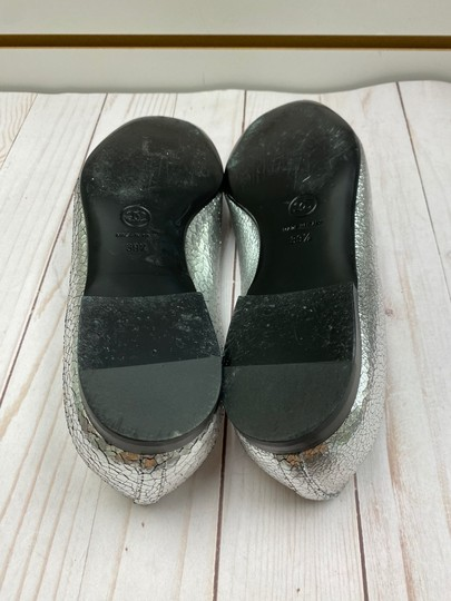 Chanel Loafer Camellia SILVER Pumps Image 6