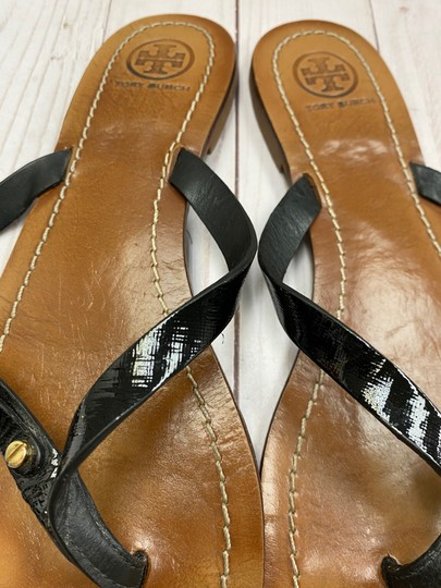 Tory Burch Thong Black Sandals Image 1