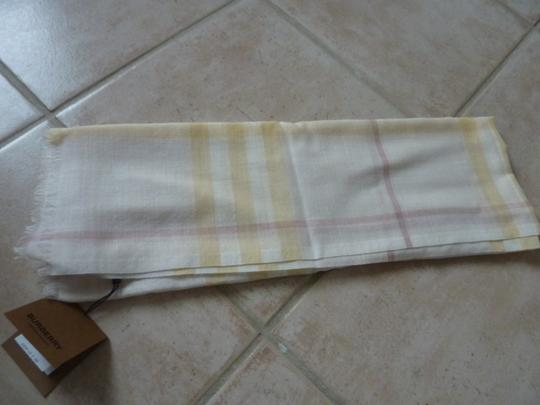 Burberry Burberry Giant Check Gauze Wool/Silk Fringed Scarf Image 1