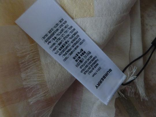 Burberry Burberry Giant Check Gauze Wool/Silk Fringed Scarf Image 10