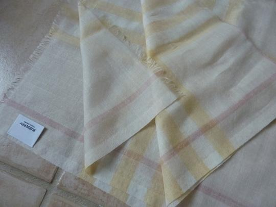 Burberry Burberry Giant Check Gauze Wool/Silk Fringed Scarf Image 3