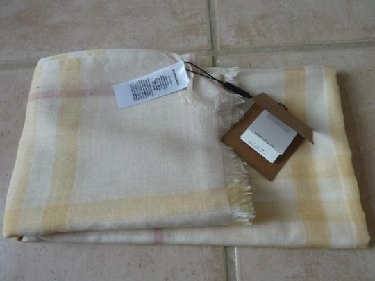 Burberry Burberry Giant Check Gauze Wool/Silk Fringed Scarf Image 4