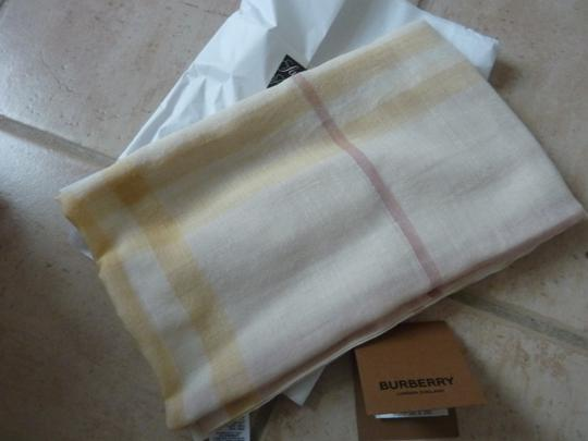 Burberry Burberry Giant Check Gauze Wool/Silk Fringed Scarf Image 5