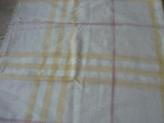 Burberry Burberry Giant Check Gauze Wool/Silk Fringed Scarf Image 6