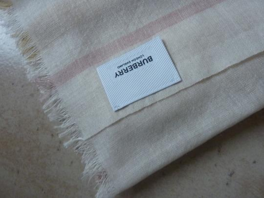 Burberry Burberry Giant Check Gauze Wool/Silk Fringed Scarf Image 7
