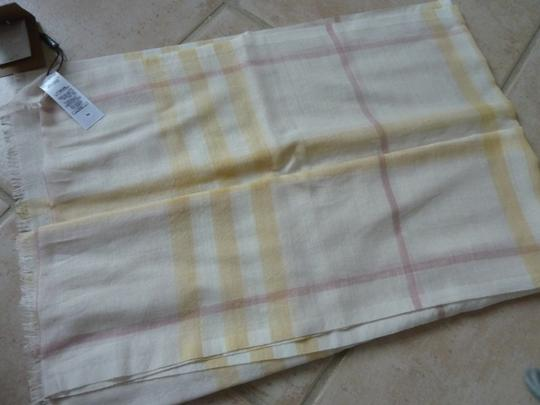 Burberry Burberry Giant Check Gauze Wool/Silk Fringed Scarf Image 8