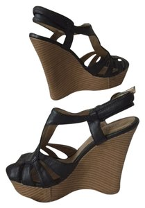 Charlotte Russe Comfortable High Casual Black Wedges